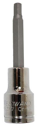 Socket Bit, 1/2 in. Dr, 6mm Hex