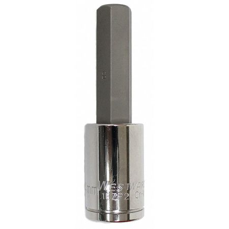 Socket Bit, 1/2 in. Dr, 14mm Hex