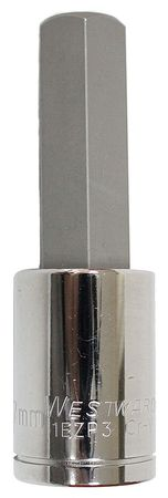 Socket Bit, 1/2 in. Dr, 17mm Hex