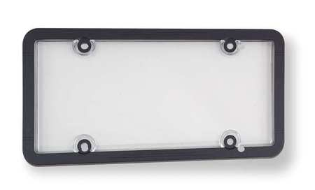 License Plate Cover, Clear/Black, Polymer