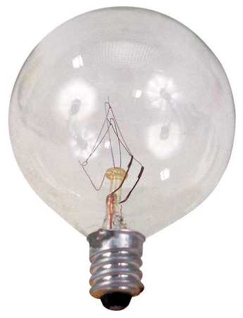 GE LIGHTING 40W,  G16 1/2 Incandescent Light Bulb