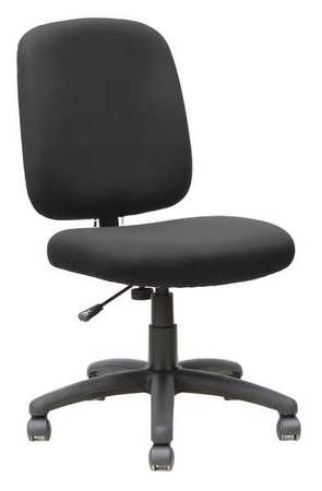 "Desk Chair Fabric,  Overall Height 20-1/2"" Black"