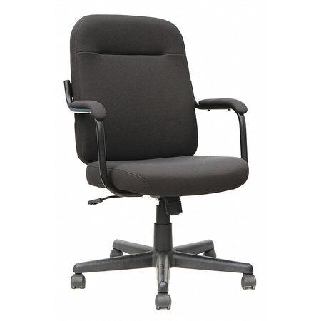 "Executive Chair,  Fabric Black,  Height 23-3/4"""