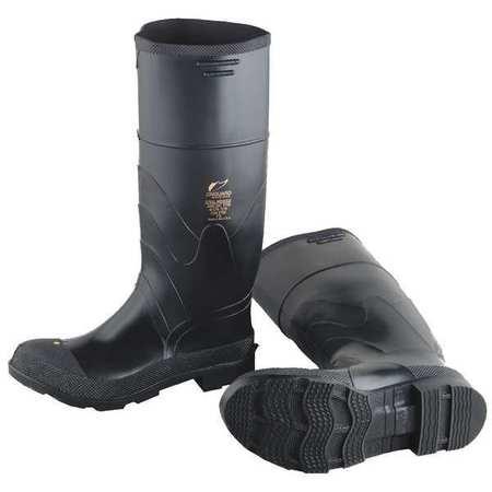 """Knee Boots, Size 4, 16"""" H, Black, Plain, PR"""