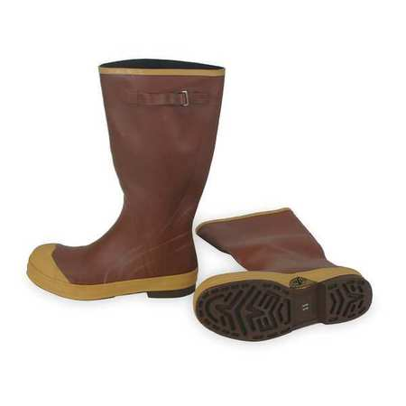 "Knee Boots, Sz 6, 16"" H, Br Red, Stl, PR"