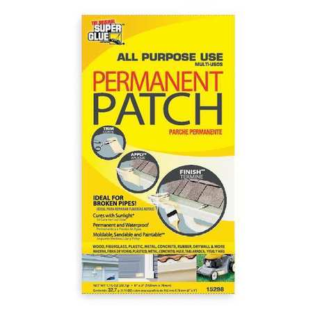Fiberglass Patch, White, 3x6 In, UV Cured