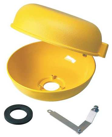 Retrofit Dust Cover w/Bowl, Plastic, Hnged