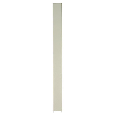 "82"" x 10"" Pilaster Toilet Partition,  Cellular Honeycomb,  Almond"