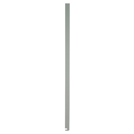 "82"" x 10"" Pilaster Toilet Partition,  Solid Polymer,  Gray"