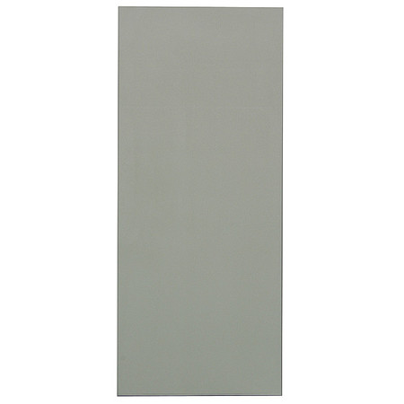 "42"" x 18"" Urinal Screen Toilet Partition,  Solid Polymer,  Gray"