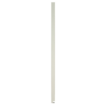 "82"" x 8"" Pilaster Toilet Partition,  Solid Polymer,  Cream"
