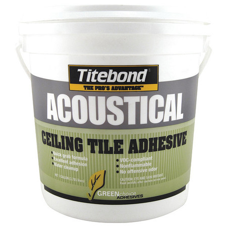 Ceiling Tile Adhesive, Gallon, Beige