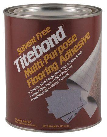 Flooring Adhesive, Quart, Beige