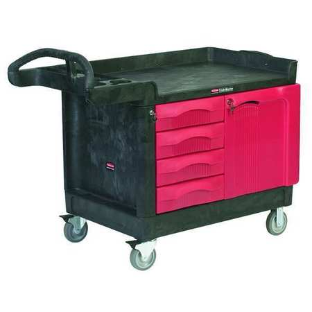 Trade Cart/Service Bench, 49 In. L, Black