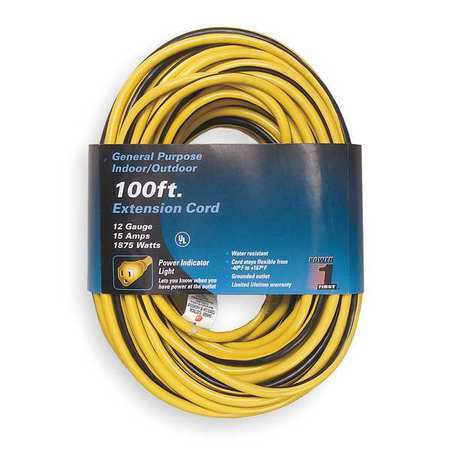 100 ft. 12/3 Lighted Extension Cord SJTW