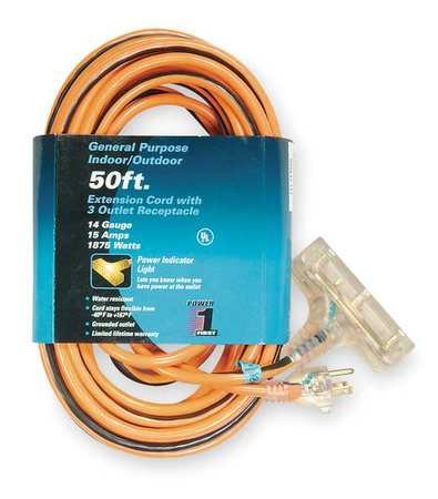 Extension Cord, 50 ft.,  14/3 ga.