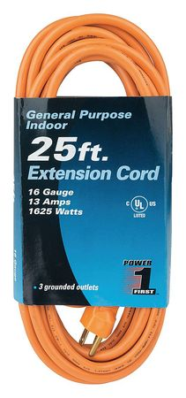 25 ft. 16/3 3-Outlet Extension Cord SJT