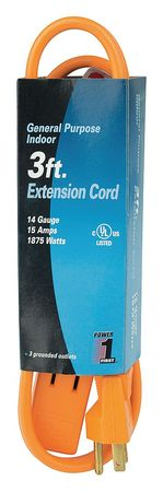 3 ft. 14/3 3-Outlet Extension Cord SPT-3