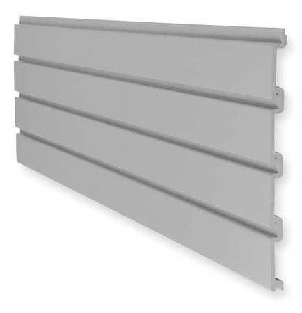 Slat Wall, H 12, W 48, Gray, PK6