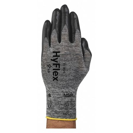 Coated Gloves, XL, Black/Gray, Nitrile, PR