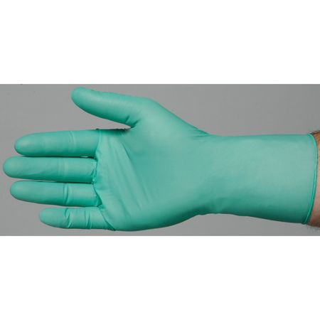 Disposable Gloves, Neoprene, L, Green, PK100