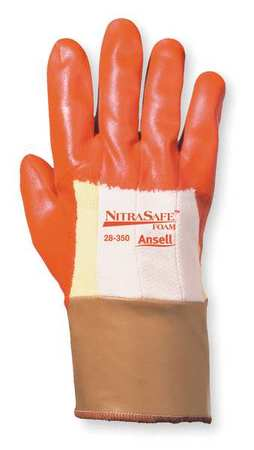 Cut Resistant Gloves, Orange/Gold, L, PR