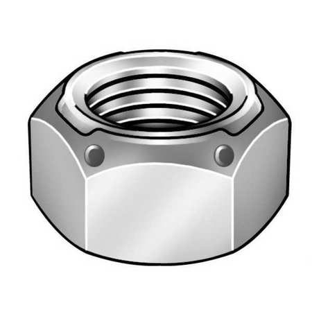 "1/2""-20 Grade C Yellow Zinc Finish Steel Deformed Thread Lock Nut,  50 pk."