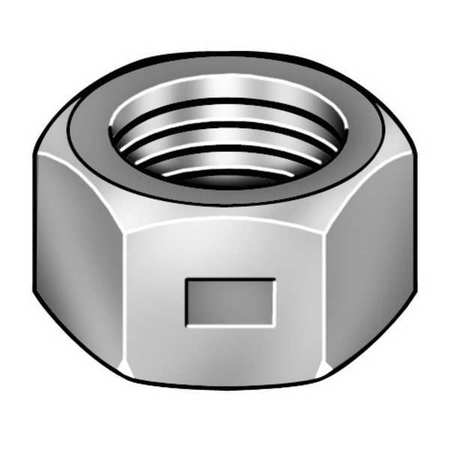 "1""-8 Grade A Zinc Plated Finish Steel Lock Nut,  10 pk."