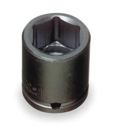 Impact Socket, 3/4 In Dr, 1 In, 6 pt