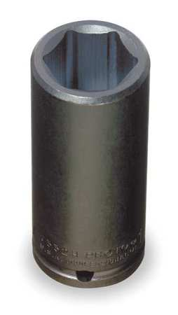 Impact Socket, 1/2 In Dr, 1-1/4 In, 6 pt
