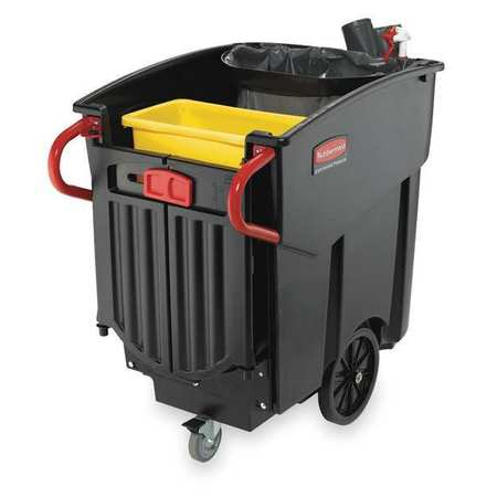 Mobile Waste Collector, Refuse, Black, 120G