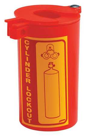 Gas Cylinder Lockout, 6 L x 3-1/2 In