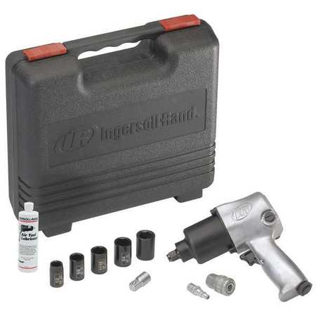 Air Impact Wrench Kit, 1/2 In., 8000 rpm