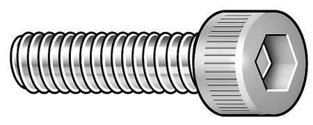 "#2-56 x 3/8"" Passivated Alloy A-286 Mil Spec Socket Head Cap Screw,  5 pk."