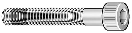 "#6-32 x 1"" Passivated Alloy A-286 Mil Spec Socket Head Cap Screw,  5 pk."