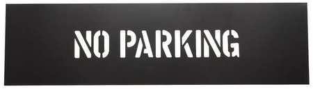 Safety Stencil, No Parking, PVC Plastic