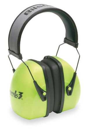 Ear Muff, 30dB, Over-the-Head, Green