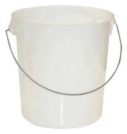 Round Storage Container,  22 qt,  Lid 1GAF3