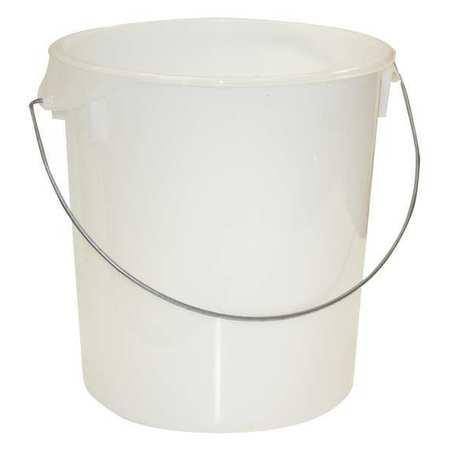 Round Storage Container,  22 qt,  Lid 1GAF5