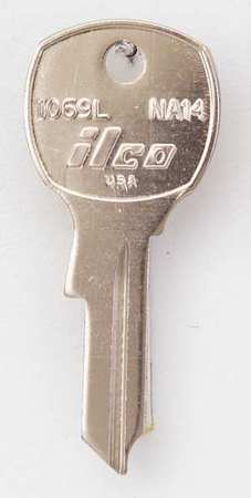 Key Blank, Brass, Type NA14, 4 Pin, PK10