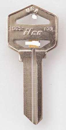 Key Blank, Brass, Type EZ1, PK10