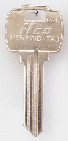 Key Blank, Brass, Type FA3, 6 Pin, PK10