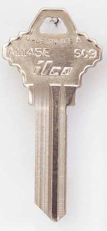 Key Blank, Brass, Type SC9, 6 Pin, PK10