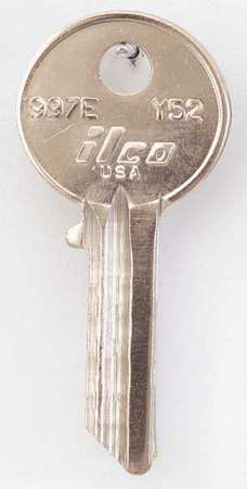 Key Blank, Brass, Type Y52, 5 Pin, PK10