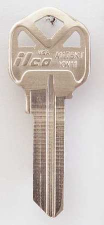 Key Blank, Brass, Type KW11, 6 Pin, PK10