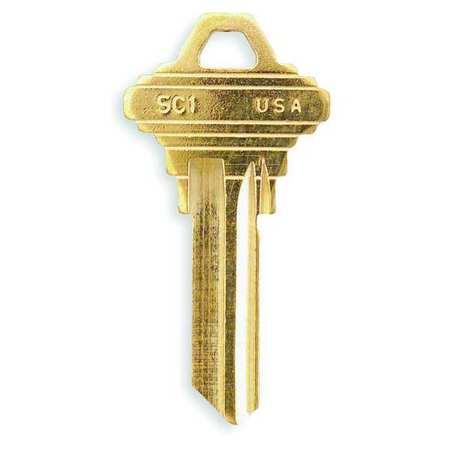 Key Blank, Brass, Type 1145, PK50