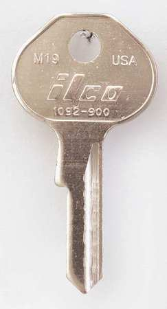 Key Blank, Brass, Type M19, 4 Pin, PK10