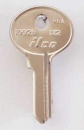 Key Blank, Brass, Type M2, 4 Pin, PK10