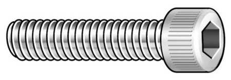 "#2-56 x 1/2"" 18-8 Stainless Steel Vented Socket Head Cap Screw,  5 pk."