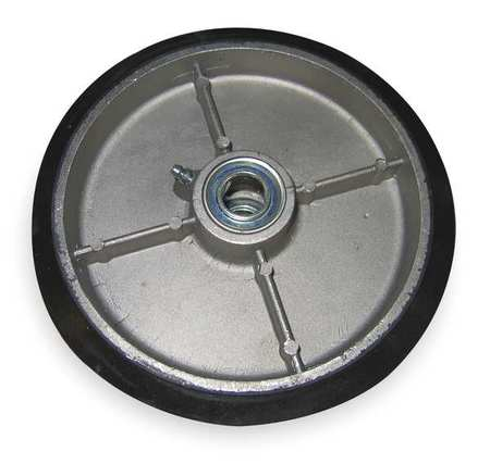 Wheel, 8x2 In, Mold On Rubber